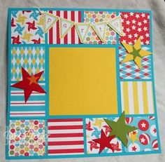 like the use of the paper squares around the sides with different coordinating papers