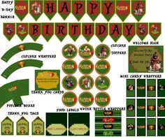 Instant download Clash of Clans Birthday Pack JPEG 300 dpi printable iphone games boys shields trophy fight clan hog rider on Etsy, $15.00