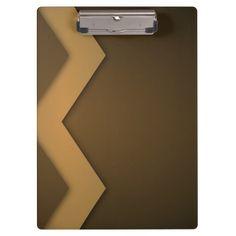 Brown Zig Zag 2 Custom Clip Board Clipboards