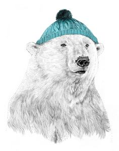 Bob II  by Jamie Mitchell  a polar bear in a hat. COME ON that is awesome!