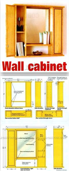 Mirror Wall Cabinet Plans - Furniture Plans and Projects | WoodArchivist.com