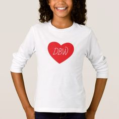 Custom Monogrammed Valentine Shirt - monogram gifts unique design style monogrammed diy cyo customize