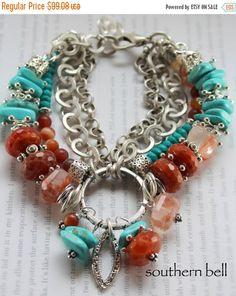 bracelet turquoise bracelet agate bracelet by soulfuledges on Etsy