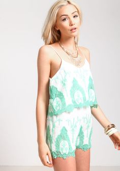 Embroidered Tiered Romper - Love Culture