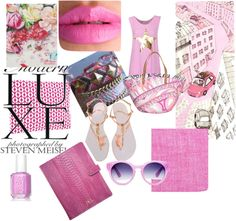 """""""Pink"""" by sophie-panthere on Polyvore"""
