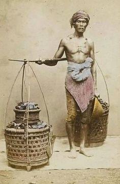 """Tukang arang"" (charcoal seller). 1867."