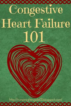 Congestive Heart Failure How to care for your CHF patients. What symptoms a. Congestive Heart Failure How to care for your CHF patients. What symptoms and labs to monitor. What to avoid. Nursing School Tips, Nursing Tips, Nursing Notes, Congestive Heart Failure Signs, Cardiac Nursing, Nursing Assessment, Critical Care Nursing, Respiratory Therapy, Medical Information