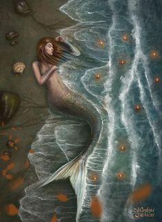 Fish at Shore Picture fantasy, mermaid, siren, romance, novel) Real Mermaids, Fantasy Mermaids, Mermaids And Mermen, Magical Creatures, Fantasy Creatures, Sea Creatures, Mermaid Fairy, Mermaid Tale, Sirens