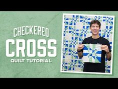 Looks super complicated, but it's actually easy! Checkered Cross quilt pattern and tutorial from Man Sewing