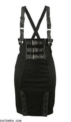 Jawbreaker SUSPENDER Skirt. www.zatheka.com/gothic-clothing-uk alternative…