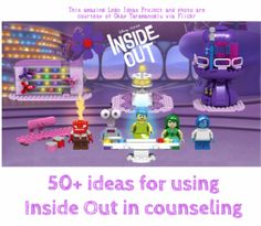 19 Super-Interesting Facts About Pixars Inside Out 50 Ideas for using the movie inside out to teach emotional intelligence in counseling and play therapy v Feelings Activities, Counseling Activities, Play Therapy Activities, Physical Activities, Elementary Counseling, School Counseling, Group Counseling, Elementary Schools, Art Therapy Projects