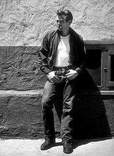 James Dean, 1955 - the iconic  red jacket, white t shirt and jeans for Rebel Without a Cause, which became the look of every young generation to follow and into the 21st century.