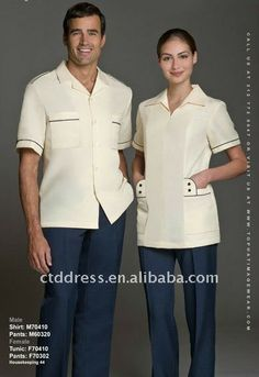 66bb2fd6973 New style cotton Cleaning Uniforms Housekeeping Custom Made by CTD $34~$59