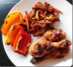 Grilled Chicken Drumsticks with Garlic Marinade
