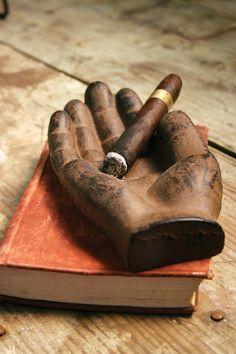 cast iron hand catch all | cast iron hand cigar tray
