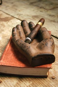 cast iron hand catch all | cast iron hand cigar tray
