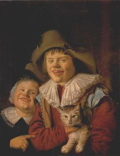 Jan Miense Molenaer - Children with a Cat
