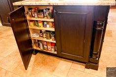 like to use any available space for storage like this shallow cabinet