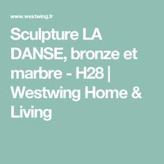 Sculpture LA DANSE, bronze et marbre - H28 | Westwing Home & Living