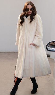dc0c5ad012346 NEW IVORY MINK FUR LONG COAT CLASS OF RUSSIAN SABLE CHINCHILLA JACKET VEST  WHITE  fashion  clothing  shoes  accessories  womensclothing   coatsjacketsvests ...