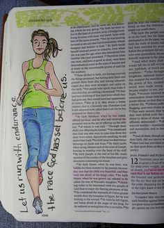 Hebrews 12:1. This verse applies to much more than actual running, but right now, I'm training to try and run a 5k sometime this fall. I'v...