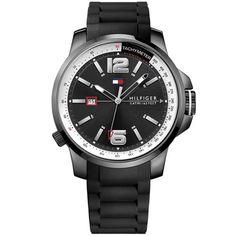 Relógio Tommy Hilfiger Masculino Borracha Preta - 1791221