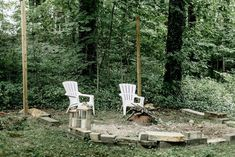 Fire pit progress, outdoor space in construction, hammock, DIY fire pit sitting area Fire Pit Gravel, Gravel Patio, Flagstone, Backyard Hammock, Fire Pit Backyard, Hammocks, Landscaping With Rocks, Pool Landscaping, Fire Pit Video