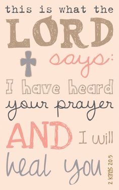 He hears our prayer