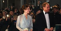 The royal couple walked up the red carpet in front of the Royal Albert Hall to watch the latest installment of the spy franchise