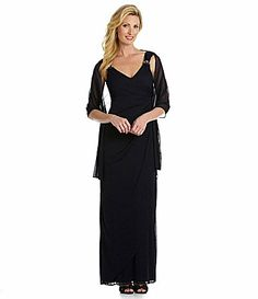 Alex Evenings Side Ruched Gown #Dillards