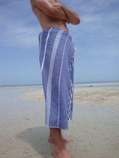 Turkish hammam towel Zomer in blue!