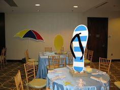 Giant flip flop centerpiece for a beach theme Bat Mitzvah | Flickr