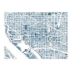 Washington DC Blueprint watercolor map Art Print ($99) ❤ liked on Polyvore featuring home, home decor, wall art, map home decor, map wall art, blueprint wall art and watercolor wall art