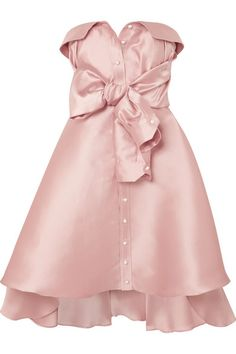 Blush faille Button fastenings through front, button and concealed hook and zip fastening at back polyester, silk Dry clean Stage Outfits, Kpop Outfits, Cute Outfits, Satin Dresses, Gowns, Mini Dresses, Alexis Mabille, Casual Dresses, Fashion Dresses