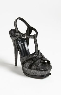 41dbd1a42503 Saint Laurent  Tribute  T-Strap Sandal available at  Nordstrom T Strap Heels