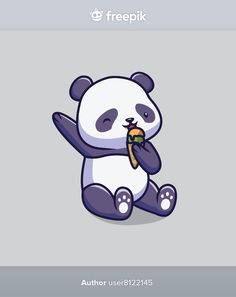 Cute panda eating ice cream cartoon illu... | Premium Vector #Freepik #vector