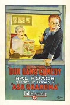 Theatrical poster for the 1925 silent film Ask Grandma.