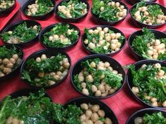 Kale Garbanzo Bean Salad dressed with parmesan cheese, lemon juice, olive oil and some seasonings. (https://www.facebook.com/pages/Billerica-Schools-Nutrition-Services/414423981940950)