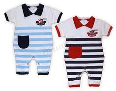 OVERALY | Chlapecký overálek pro malého námořníka | Kojenecké oblečení, výbavička pro miminko a potřeby pro kojence