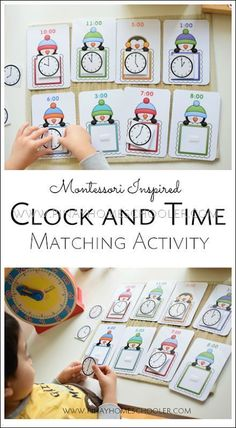 Penguin clock and time matching game for preschoolers and kindergarterners Winter Activities For Kids, Preschool Learning Activities, Math For Kids, Kindergarten Activities, Fun Math, Teaching Kids, History Activities, Time Activities, Travel Activities