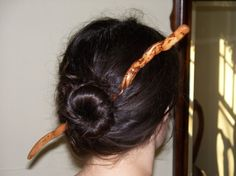 Hand Carved Driftwood Magic Wand Hair Stick by DGCreative on Etsy, $15.00