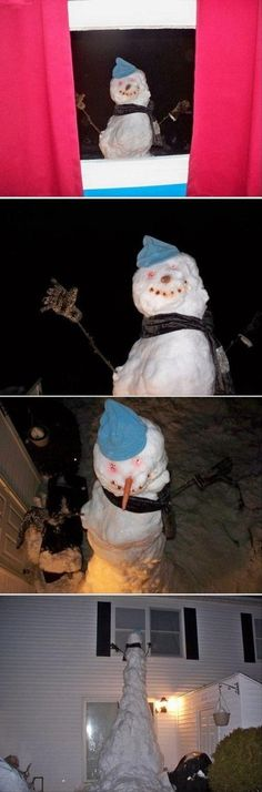 Snowman. Imagine your kids waking up to this in the morning!