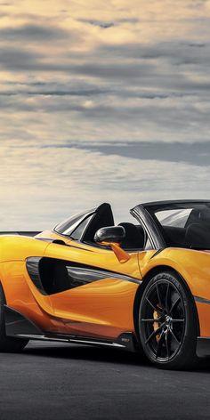 Download 1080x2160 wallpaper Orange, McLaren 600LT, sports car, Honor 7X, Honor 9 Lite, Honor View 10, 19470