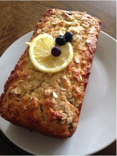 Lemon Blueberry Oatmeal Bread | Clearly Organic Nutritionist Corner