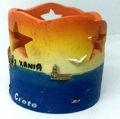 Candle holder Resin Traditional Painting souvenir 3D city Beach XANIA Crete | eBay