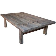 Weathered Coffee Table | From a unique collection of antique and modern coffee and cocktail tables at http://www.1stdibs.com/furniture/tables/coffee-tables-cocktail-tables/