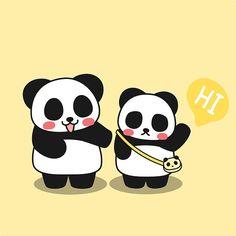 Hi, this is 'LittlePan' my little brother. He is cute but eat a lot.  #littlepan #pandakuma #panda