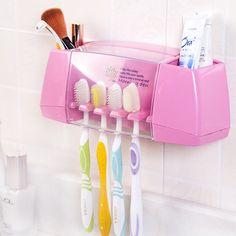 Heißer Verkauf multifunktionale zahnbürstenhalter aufbewahrungsbox bad zubehör saug-haken zahnbürste-halter Kostenloser versand