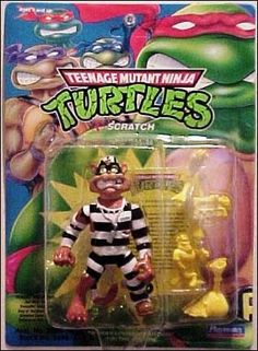 Playmayes 1990 - Teenage Mutant Ninja Turtles Super Rare Scratch Figure