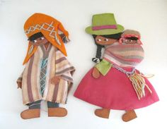 Vintage 1970s Peru Folk Art Wall Art Handmade by annegraham, $25.00
